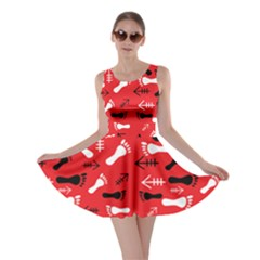 Red Skater Dress by HASHHAB