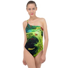Abandoned Mine 3 Classic One Shoulder Swimsuit