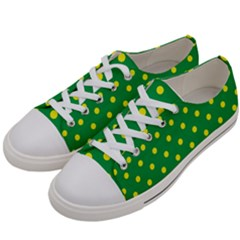 Polkadot Yellow Women s Low Top Canvas Sneakers by berwies
