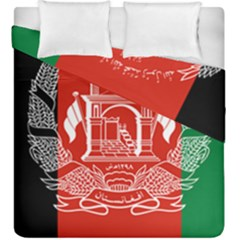 Flag Of Afghanistan Duvet Cover Double Side (king Size) by abbeyz71