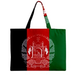Flag Of Afghanistan Zipper Medium Tote Bag by abbeyz71