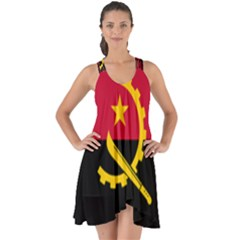 Flag Of Angola Show Some Back Chiffon Dress