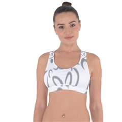Cat Feline Cute Pet Animal Cross String Back Sports Bra