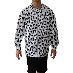 Heart Love Cats Kitten Kitty Hooded Wind Breaker (kids)