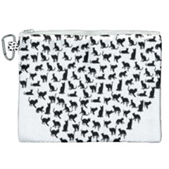 Heart Love Cats Kitten Kitty Canvas Cosmetic Bag (xxl) by Simbadda