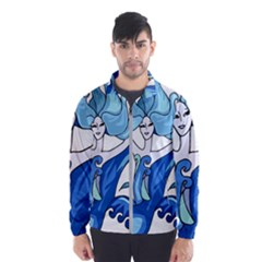 Abstract Colourful Comic Characters Wind Breaker (men) by Simbadda