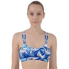 Abstract Colourful Comic Characters Line Them Up Sports Bra