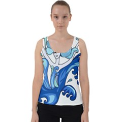 Abstract Colourful Comic Characters Velvet Tank Top