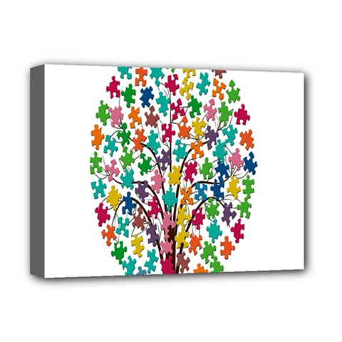 Tree Share Pieces Of The Puzzle Deluxe Canvas 16  X 12
