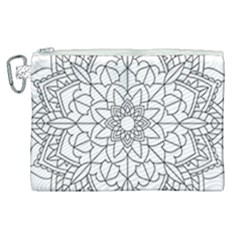 Floral Flower Mandala Decorative Canvas Cosmetic Bag (xl)