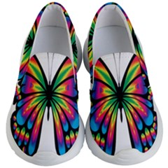 Abstract Animal Art Butterfly Kid s Lightweight Slip Ons