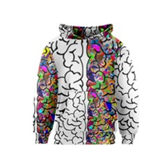 Brain Mind Anatomy Kids  Pullover Hoodie by Simbadda