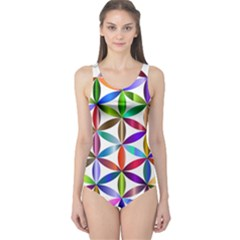 Flower Of Life Sacred Geometry One Piece Swimsuit