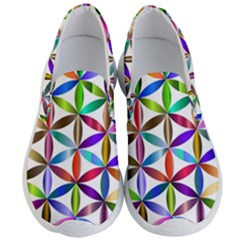 Flower Of Life Sacred Geometry Men s Lightweight Slip Ons