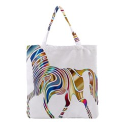 Horse Equine Psychedelic Abstract Grocery Tote Bag