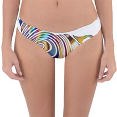 Horse Equine Psychedelic Abstract Reversible Hipster Bikini Bottoms by Simbadda