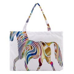 Horse Equine Psychedelic Abstract Medium Tote Bag