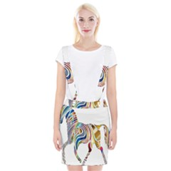 Horse Equine Psychedelic Abstract Braces Suspender Skirt by Simbadda