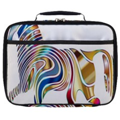 Horse Equine Psychedelic Abstract Full Print Lunch Bag by Simbadda