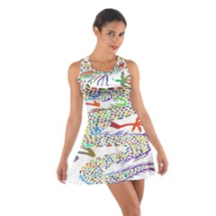 Dragon Asian Mythical Colorful Cotton Racerback Dress