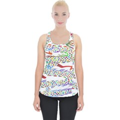 Dragon Asian Mythical Colorful Piece Up Tank Top