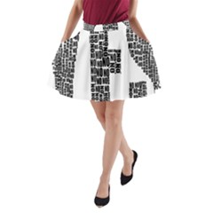 Yes No Typography Type Text Words A Line Pocket Skirt