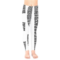 Yes No Typography Type Text Words Kids  Legging