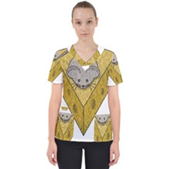 Cheese Rat Mouse Mice Food Cheesy Scrub Top