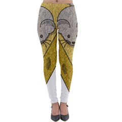 Cheese Rat Mouse Mice Food Cheesy Lightweight Velour Leggings
