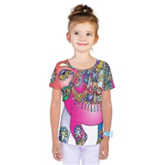 Elephant Pachyderm Animal Kids  One Piece Tee