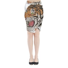 Tiger Tiger Png Lion Animal Midi Wrap Pencil Skirt