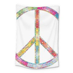 Flourish Decorative Peace Sign Small Tapestry