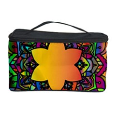 Mandala Floral Flower Abstract Cosmetic Storage Case by Simbadda