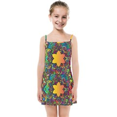 Mandala Floral Flower Abstract Kids Summer Sun Dress