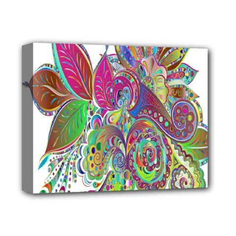 Floral Flowers Ornamental Deluxe Canvas 14  X 11  by Simbadda
