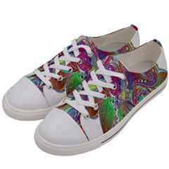 Floral Flowers Ornamental Women s Low Top Canvas Sneakers by Simbadda