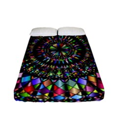 Mandala Decorative Ornamental Fitted Sheet (full/ Double Size) by Simbadda