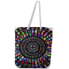 Mandala Decorative Ornamental Full Print Rope Handle Tote (large)