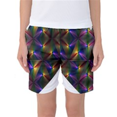 Heart Love Passion Abstract Art Women s Basketball Shorts