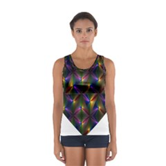 Heart Love Passion Abstract Art Sport Tank Top