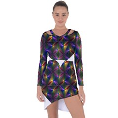 Heart Love Passion Abstract Art Asymmetric Cut Out Shift Dress