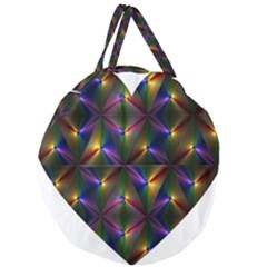 Heart Love Passion Abstract Art Giant Round Zipper Tote