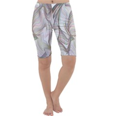 Abstract Geometric Line Art Cropped Leggings  by Simbadda