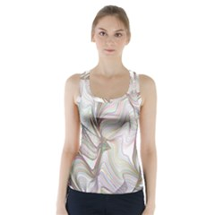 Abstract Geometric Line Art Racer Back Sports Top by Simbadda