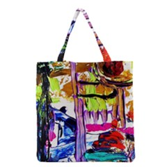 Walk With A Dog 1/1 Grocery Tote Bag by bestdesignintheworld