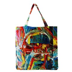 Red Aeroplane 1 Grocery Tote Bag by bestdesignintheworld