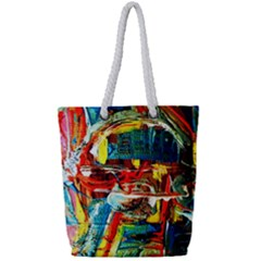 Red Aeroplane 1 Full Print Rope Handle Tote (small) by bestdesignintheworld