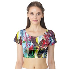 Eden Garden 3 Short Sleeve Crop Top by bestdesignintheworld
