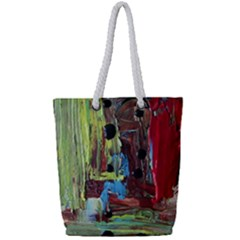 Point Of View #4 Full Print Rope Handle Tote (small) by bestdesignintheworld
