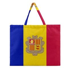 National Flag Of Andorra  Zipper Large Tote Bag by abbeyz71